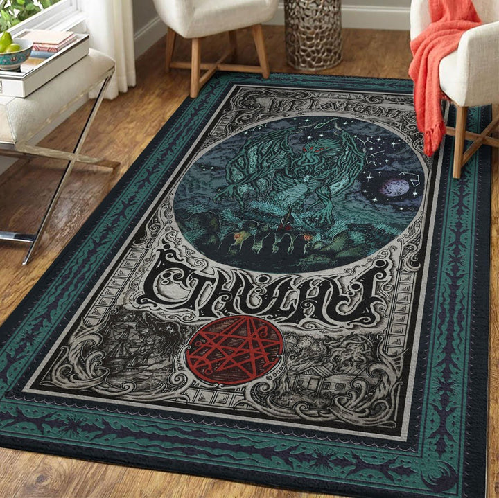 H. P. Lovecraft Cthulhu Rug / Small (3 X 5 Feet 35 59 Inches) Qm1299