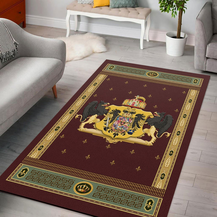 Coat Of Arms Francis Ii Holy Roman Empire Rug / Small (3 X 5 Feet - 35 59 Inches) Qm1371