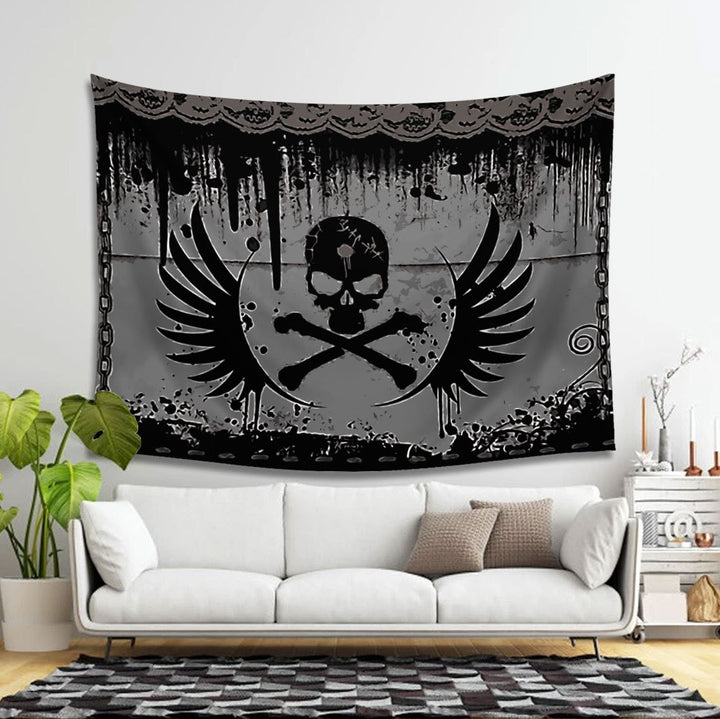 Skull Taspetry Tapestry - 4 Holes / S (27.6 X 39.4 Inches 2.3 3.2 Feet) Vn904