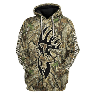 Deer Hunter Camo Fleece Hoodie / S Qm1611