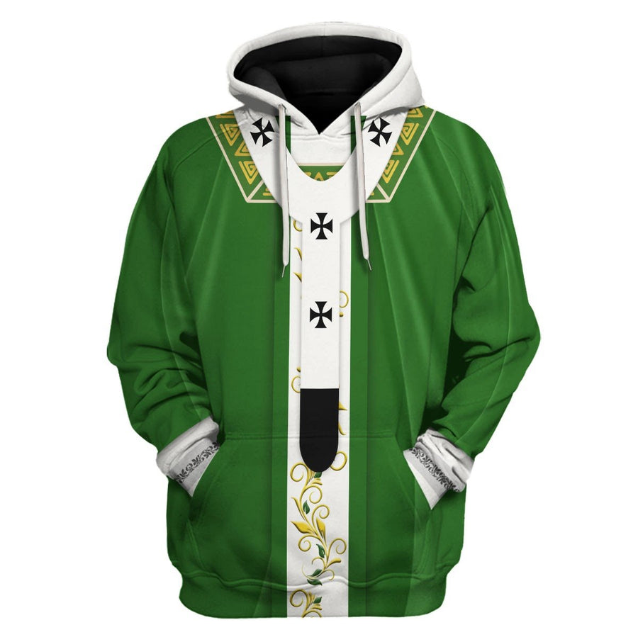 Green Liturgical Vestment Hoodie / S Vn331