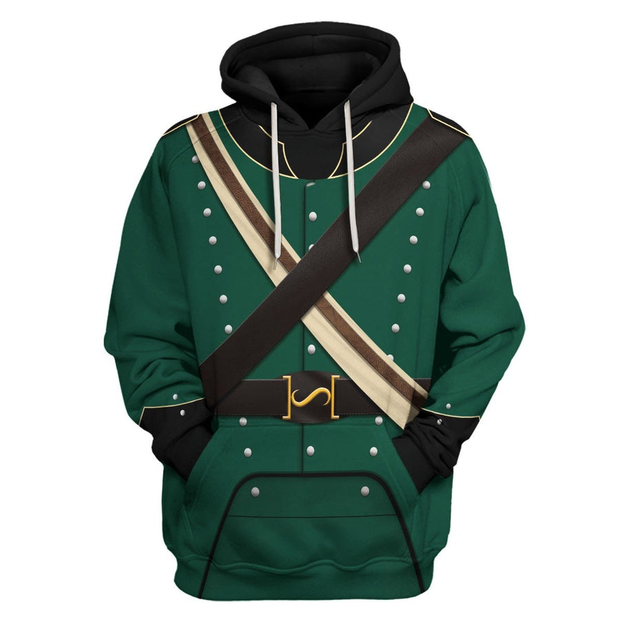 95Th Rifles Uniform British Army Hoodie / S Qm538