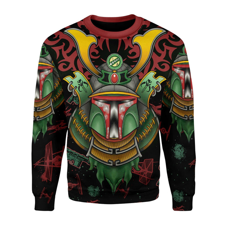 Boba Samurai Style 3D Fleece Long Sleeves / S Kd904