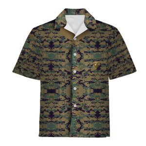 Marine Corp Uniform Hawaiian Shirt / S Qm721