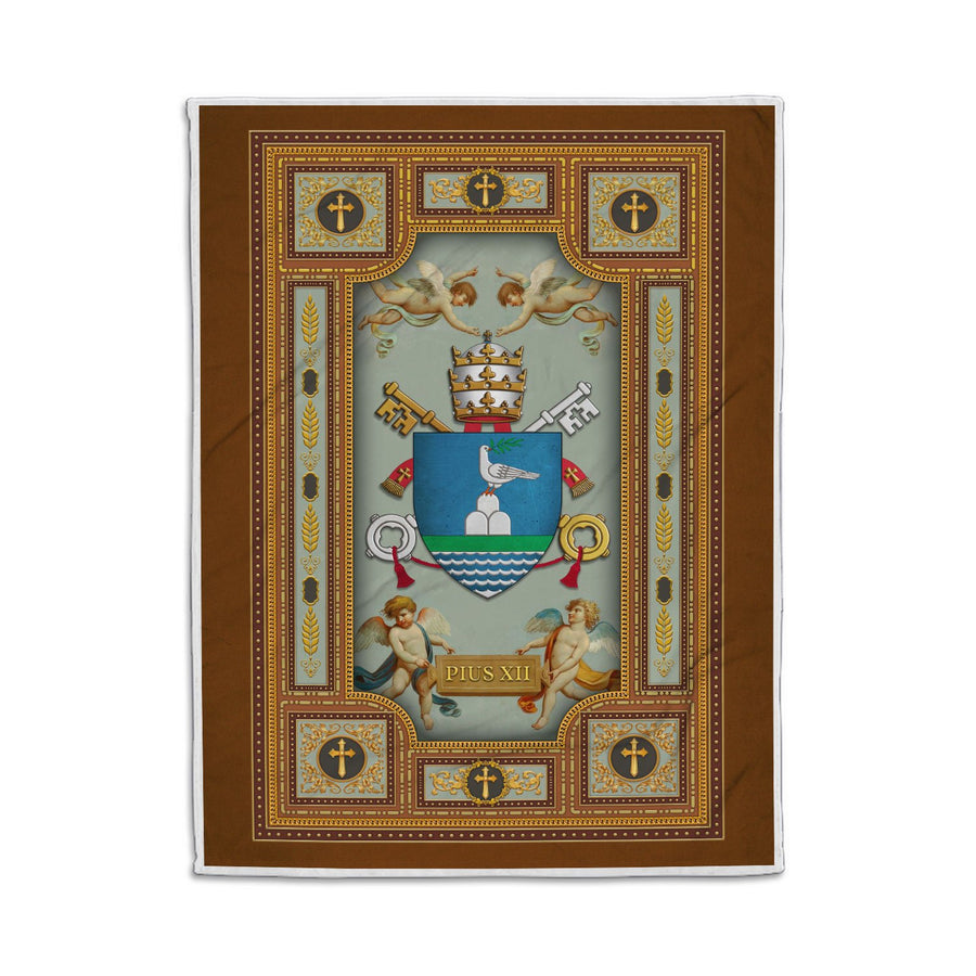 Pope Pius Xii Coat Of Arms Blanklet Qm1399