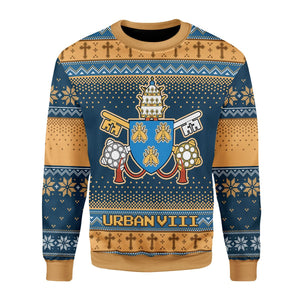 Pope Urban Viii - Maffeo Barberini (1623-1644) The Bee Ugly Sweater / S Qr1633