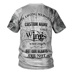 Custom Name Your Wings Wear Ready But Our Hearts Are Not Qm572