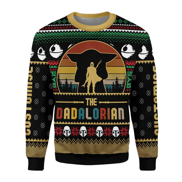 Dadalorian Custom Name Ugly Christmas Sweater / S Qm1815