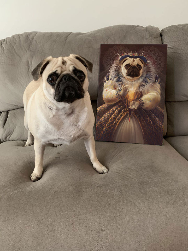 Queen Elizabeth - Custom Pet Canvas