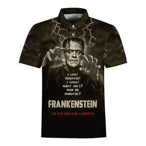 Frankenstein Mary Shelley Polo Shirt / S Qm1306