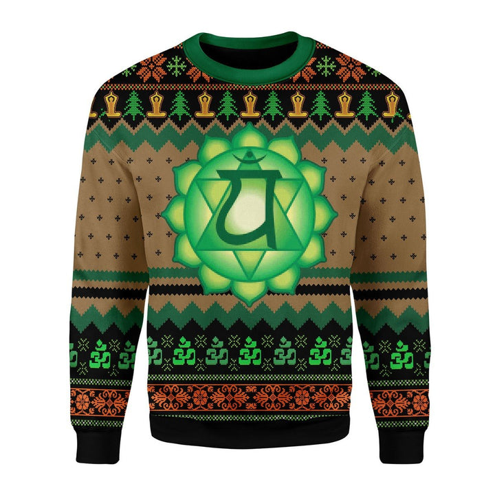 Heart Chakra Ugly Christmas Sweater / S Kd459