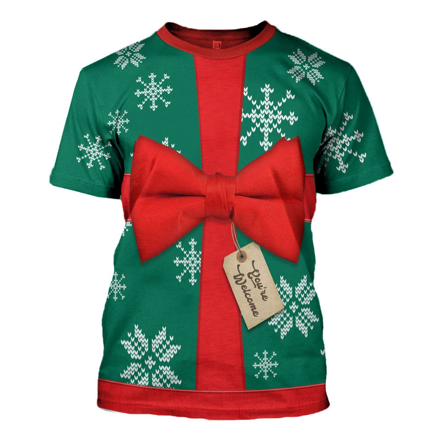 Present Ugly Christmas Sweater T-Shirt / S Qm1583