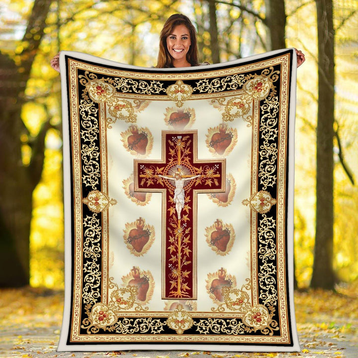 Sacred Heart Of Jesus Blanket / S (51 X 59 Inches - 4 5 Feet ) G80