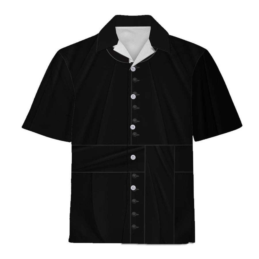 Clergy Black Suit Hawaiian Shirt / S Vn524