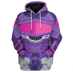Qm7321 All Over Print Hoodie / S