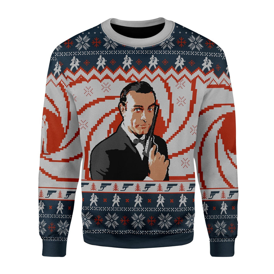 Sean Connery Ugly Christmas Sweater Chrristmas / S Kd504