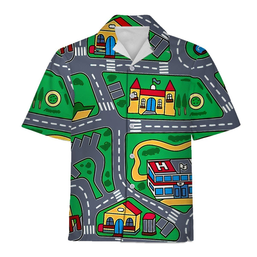Vn527 Kid Carpet Shirt Hawaiian Shirt / S