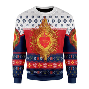 Sacred Heart Ugly Sweater / S Qr1632