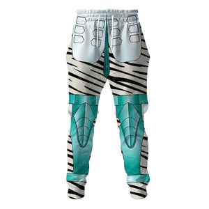 Tigertron White Tiger All Over Print Bw Sweatpants / S Am16031