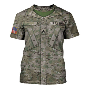 Us Army Combat Uniform Private E2 T-Shirt / S Vn456