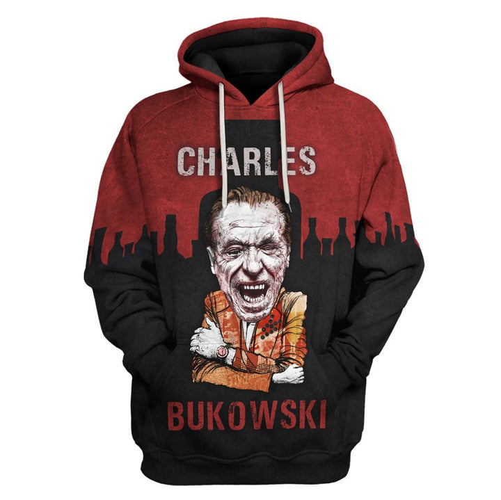Charles Bukowski Just A Little Less Pain Hoodie / S Hp524