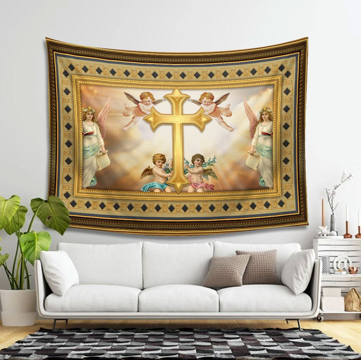 Jesus Tapestry - 4 Holes / S (27.6 X 39.4 Inches 2.3 3.2 Feet) Qm1384