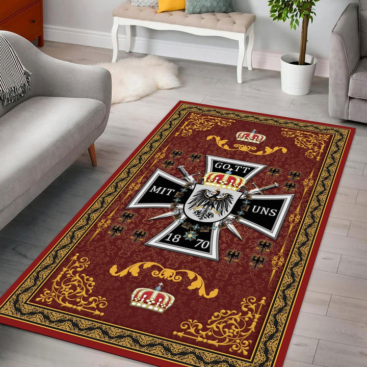 Royal Standard Of The King Prussia Rug / Small (3 X 5 Feet - 35 59 Inches) Qm1418