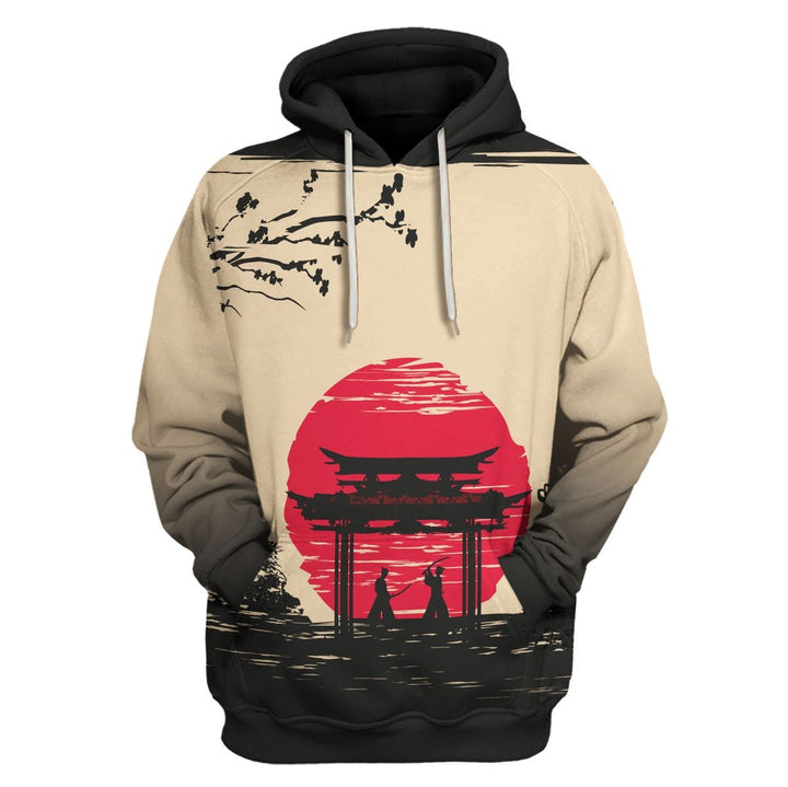 Japanese Samurai Fighters Hoodie / S Qm1110