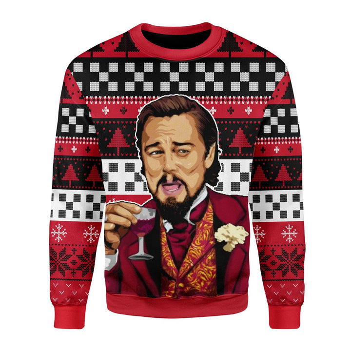 Laughing Leo Meme Ugly Sweater / S Qm1637