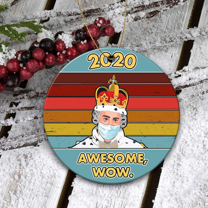 2020 Awesome Wow Christmas Ornament Mica ( 9 X Cm - 3.5 Inches) / Pack 1 Kd759