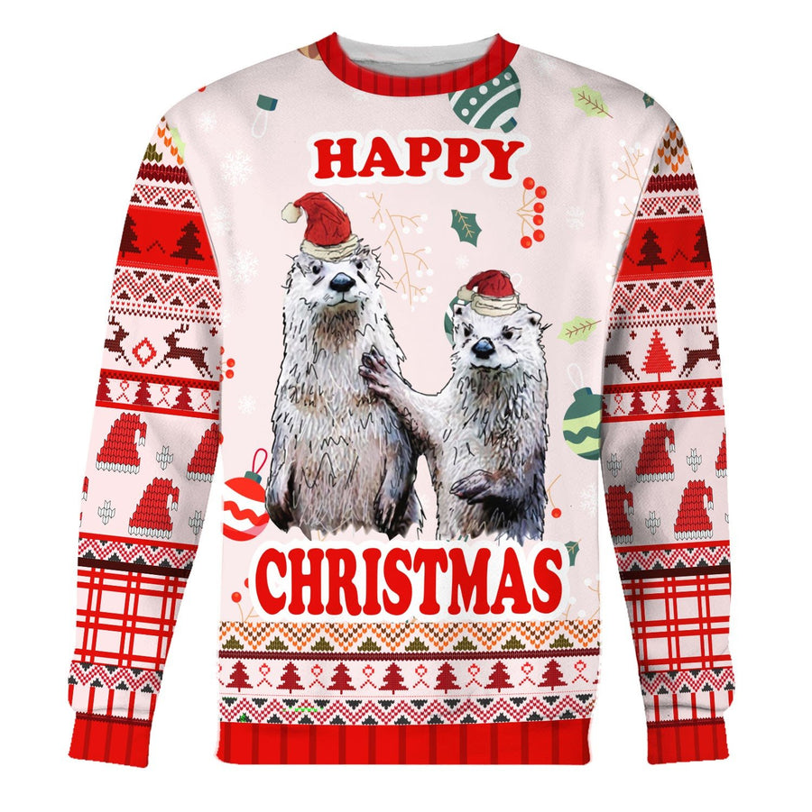 Couple Christmas Ugly Sweater Long Sleeves / S Kd185