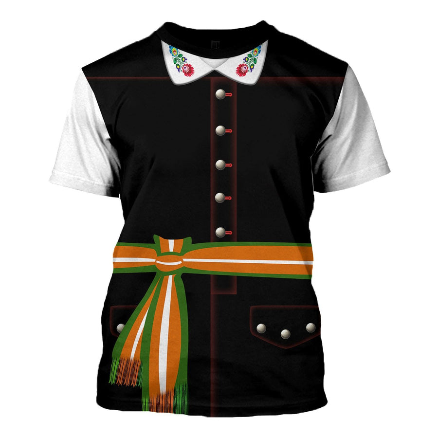 Poles In National Dress - Male T-Shirt / S Vn405
