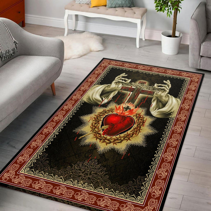 Sacred Heart Rug / Small (3 X 5 Feet - 35 59 Inches) Kd168