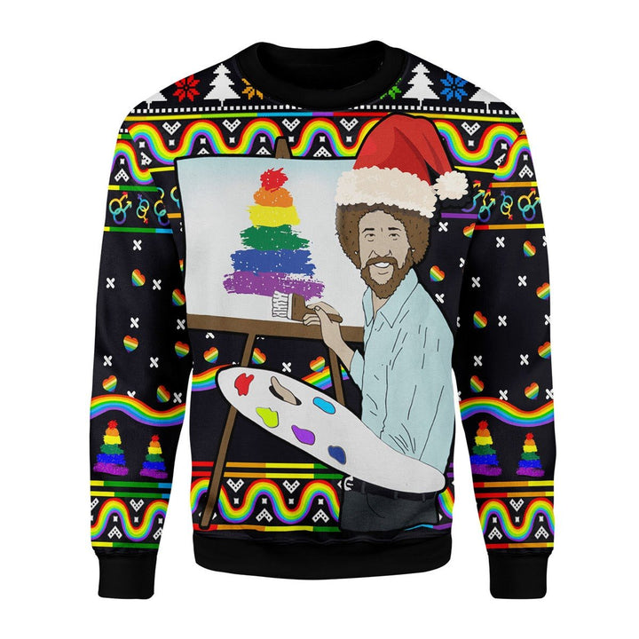 Lgbt Painting Christmas Ugly Sweater / S G712