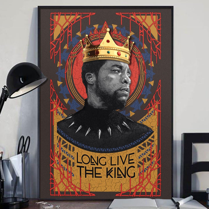 Long Live The King Canvas Non Frame-A / 35X50Cm - 13.8 X 19.6 Inches Qm1378