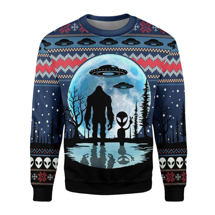Bigfoot Alien Ufo Sweater / S Qm1855