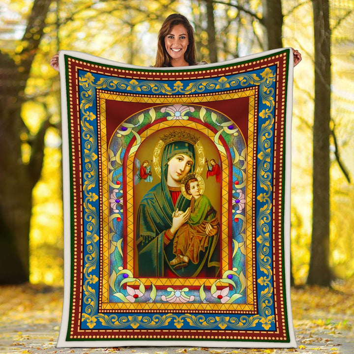 Maria Catholic Religious Blanket / S (51 X 59 Inches - 4 5 Feet ) G91