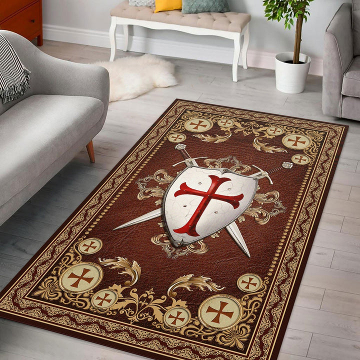 Knight Templar Rug / Small (3 X 5 Feet - 35 59 Inches) Qm1183