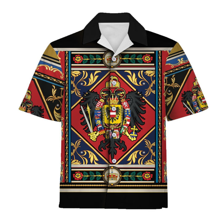 Francis Ii Holy Roman Emperor Coat Of Arms Hawaiian Shirt / S Qm816