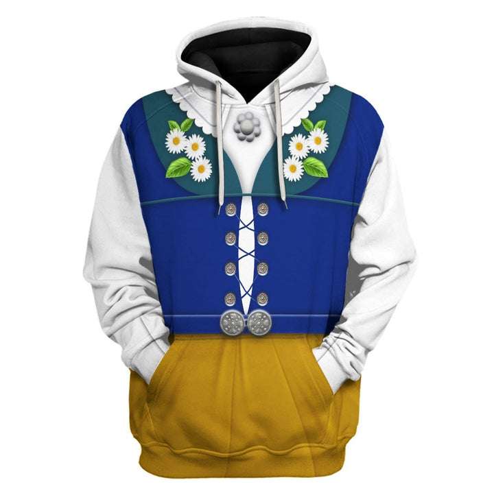 Swedes In National Costumes Hoodie / S Vn400