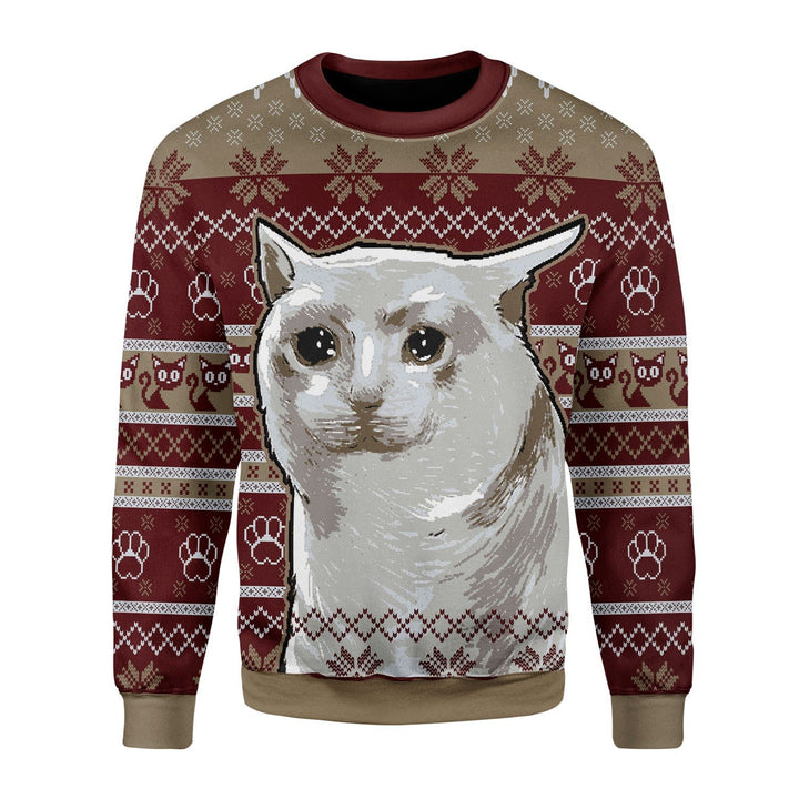 Nobiko Cat Meme Ugly Christmas Sweater Chrristmas / S Kd537