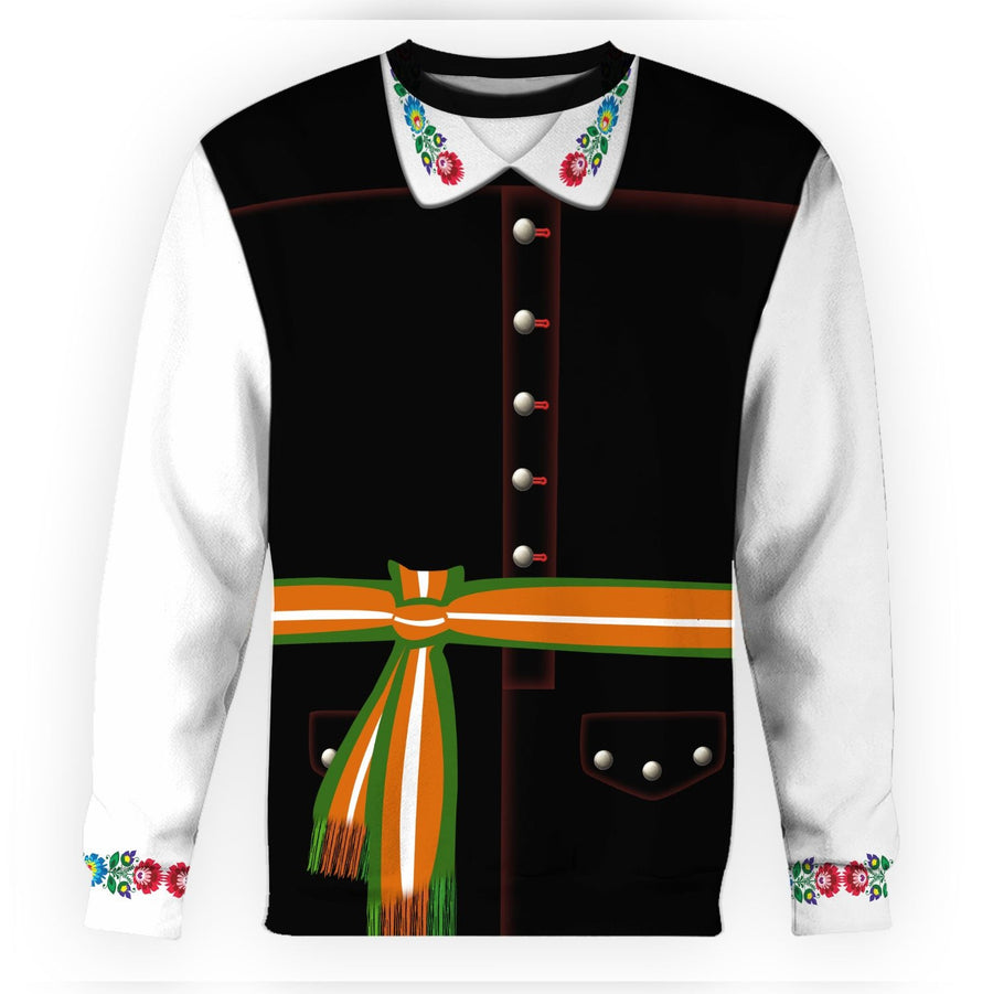 Poles In National Dress - Male Long Sleeves / S Vn405