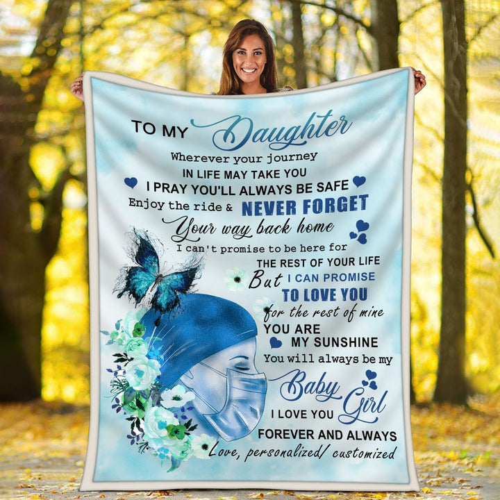 To My Daughter Nurse Blanket Kd133