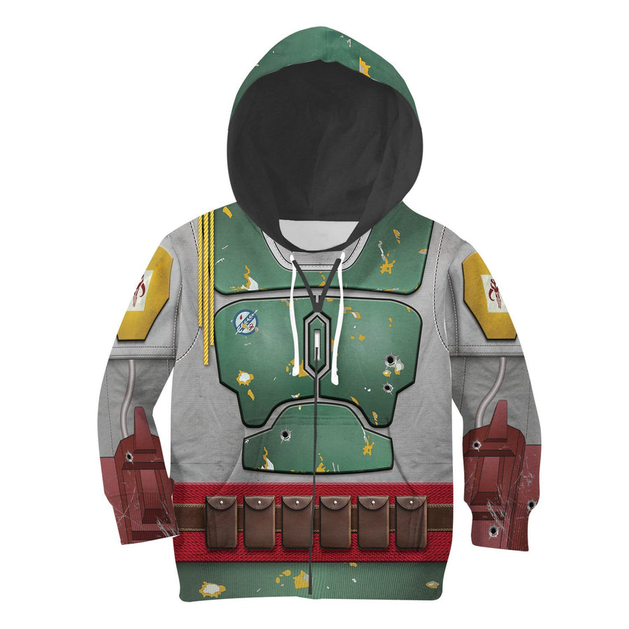 Kid B Fett All Over Print Kidhp26 Zip Hoodie / S