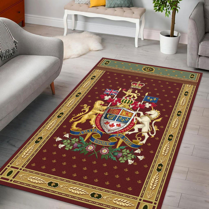 Canadian Coat Of Arms Rug / Small (3 X 5 Feet - 35 59 Inches) Qm1413