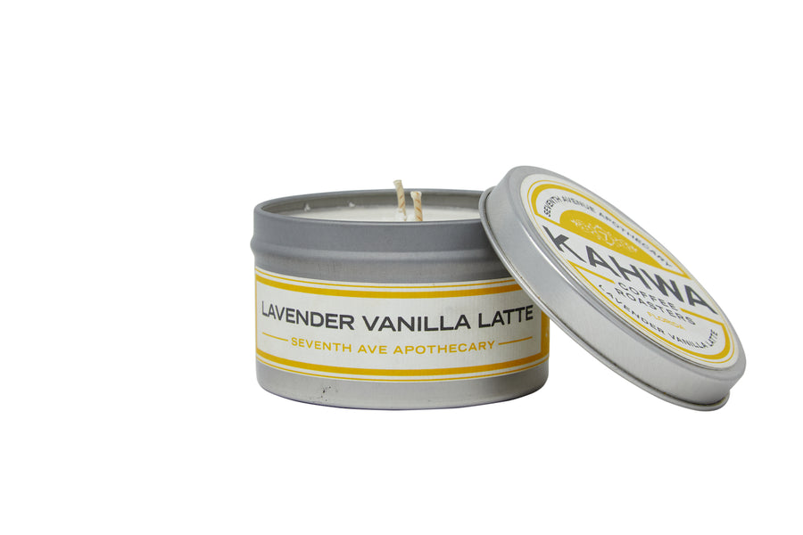 Kahwa Coffee Lavender Vanilla Latte Travel Candle