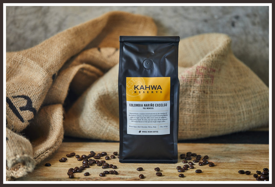 Our finest reserve coffee, the Colombia Nariño Excelso
