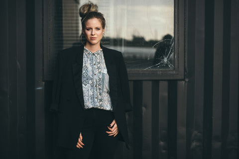 classy-woman-wearing-vintage-shirt-and-blazer