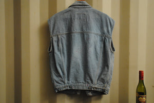 Sleeveless Jeans Jacket