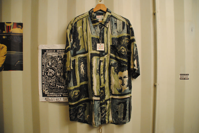 Patterned Silk Vintage Shirt